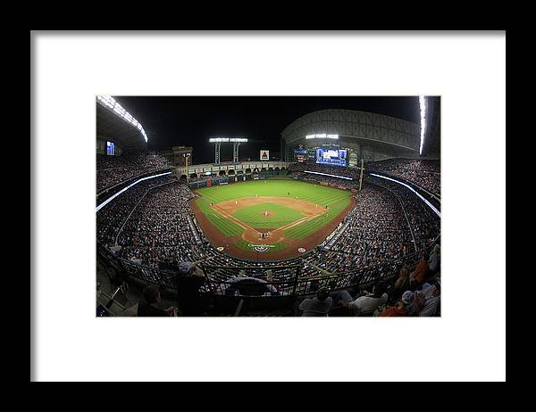 American League Baseball Framed Print featuring the photograph New York Yankees V Houston Astros by Bob Levey