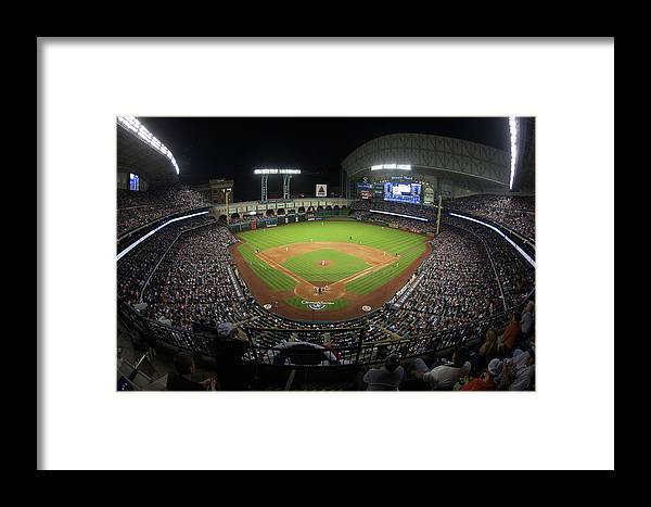 American League Baseball Framed Print featuring the photograph New York Yankees V Houston Astros by Bob Levey