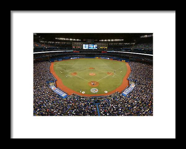 American League Baseball Framed Print featuring the photograph New York Yankees V. Toronto Blue Jays by Mark Cunningham