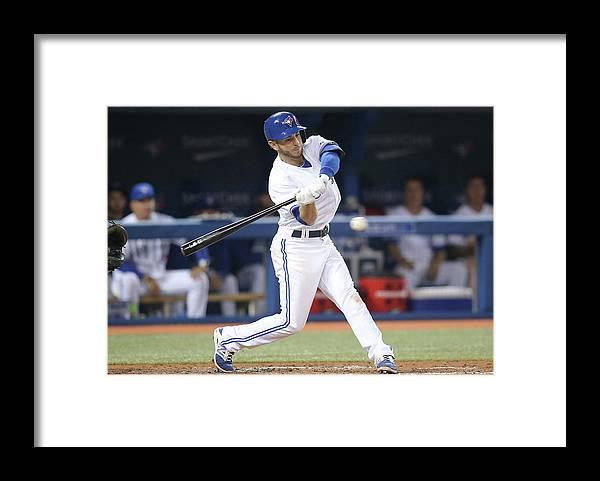 American League Baseball Framed Print featuring the photograph New York Yankees V Toronto Blue Jays by Tom Szczerbowski