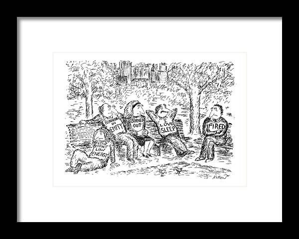 Modern Life Framed Print featuring the drawing New Yorker April 13th, 1992 by Edward Koren