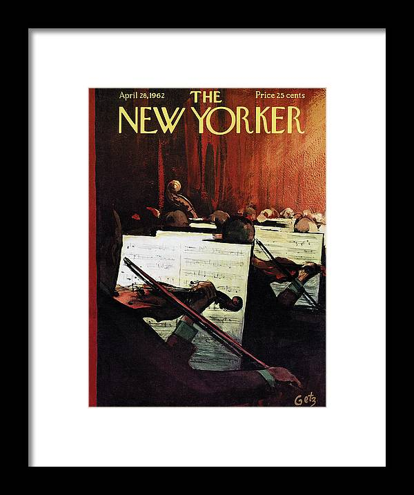 Concert Framed Print featuring the painting New Yorker April 28th, 1962 by Arthur Getz