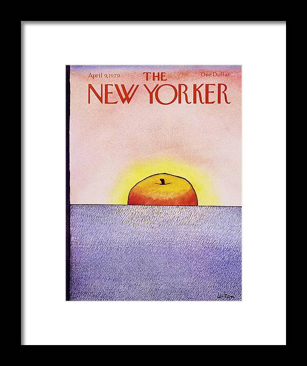 Illustration Framed Print featuring the painting New Yorker April 9th 1979 by Pierre Le-Tan
