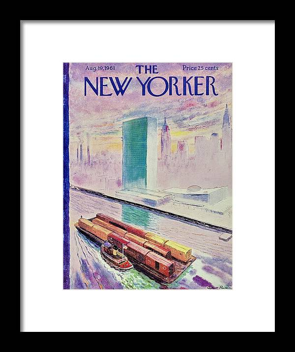 Illustration Framed Print featuring the painting New Yorker August 19th 1961 by Garrett Price