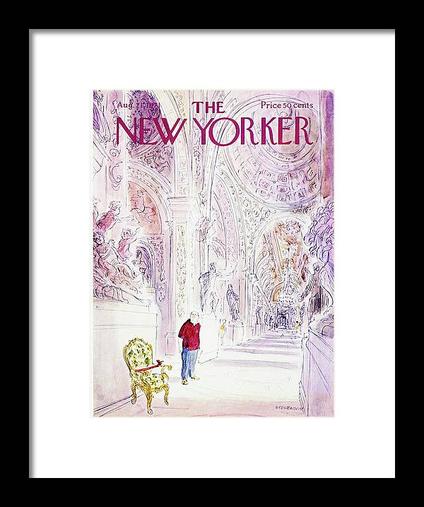 Illustration Framed Print featuring the painting New Yorker August 21st 1971 by James Stevenson