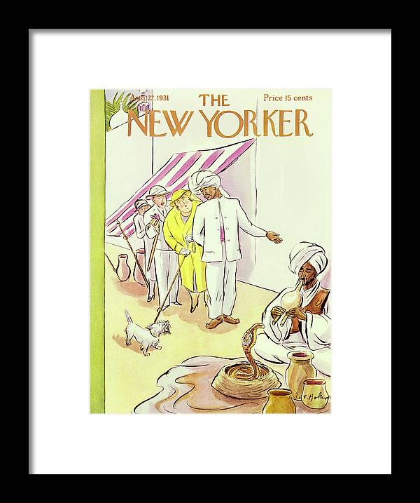 Illustration Framed Print featuring the painting New Yorker August 22 1931 by Helene E Hokinson