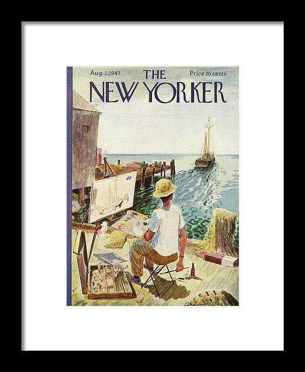 Art Framed Print featuring the painting New Yorker August 2, 1947 by Garrett Price