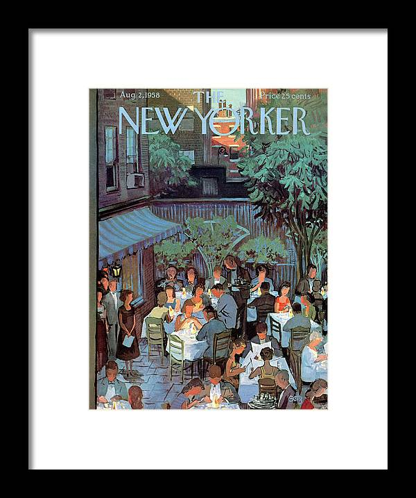 Arthur Getz Agt Framed Print featuring the painting New Yorker August 2nd, 1958 by Arthur Getz
