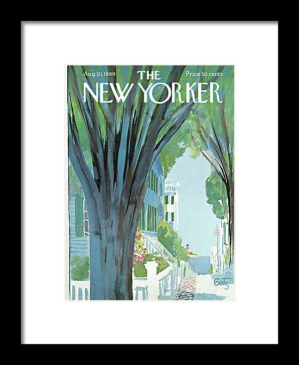 Arthur Getz Agt Framed Print featuring the painting New Yorker August 30th, 1969 by Arthur Getz