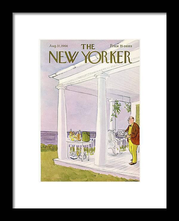 James Stevenson Jst Framed Print featuring the painting New Yorker August 31st, 1968 by James Stevenson