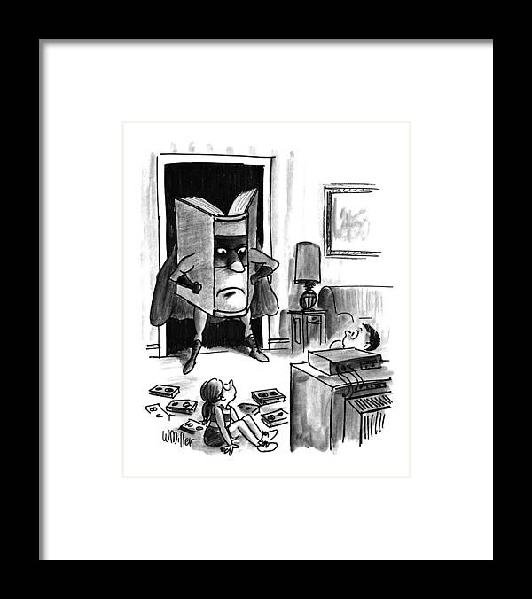 Entertainment Framed Print featuring the drawing New Yorker August 3rd, 1992 by Warren Miller