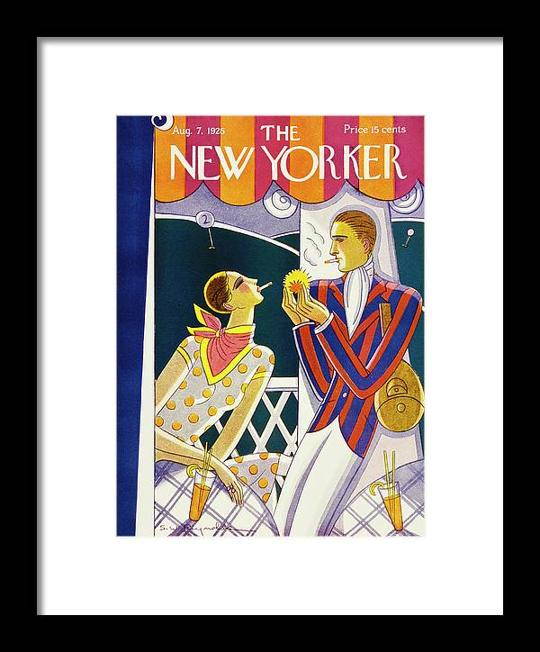 Illustration Framed Print featuring the painting New Yorker August 7 1926 by Stanley W. Reynolds