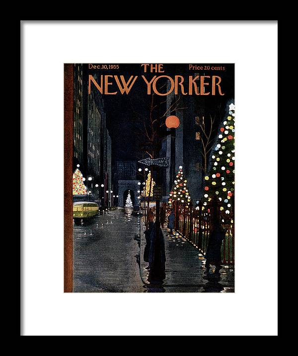 Urban Framed Print featuring the painting New Yorker December 10th, 1955 by Alain