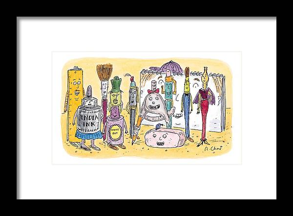 Art Framed Print featuring the drawing New Yorker December 15th, 1997 by Roz Chast