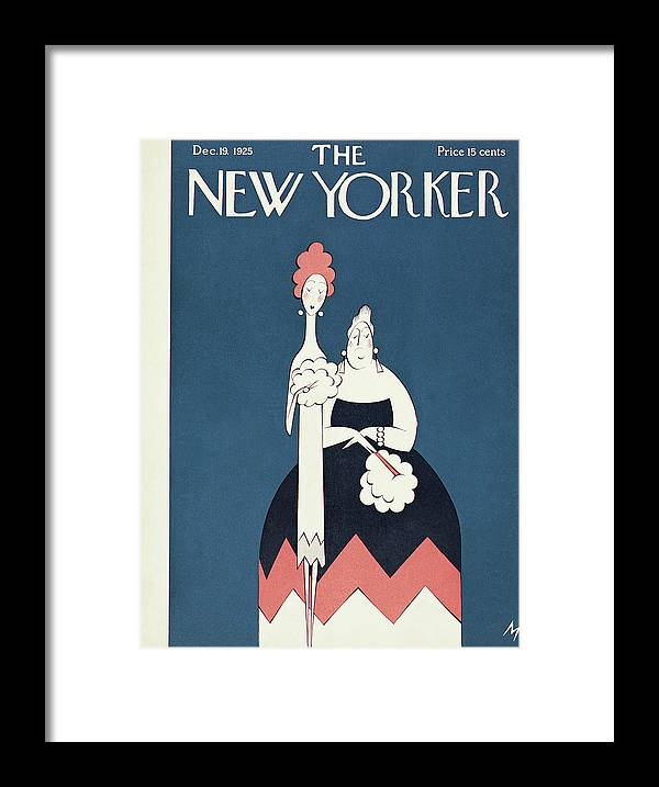Art Deco Framed Print featuring the painting New Yorker December 19th, 1925 by Julian de Miskey
