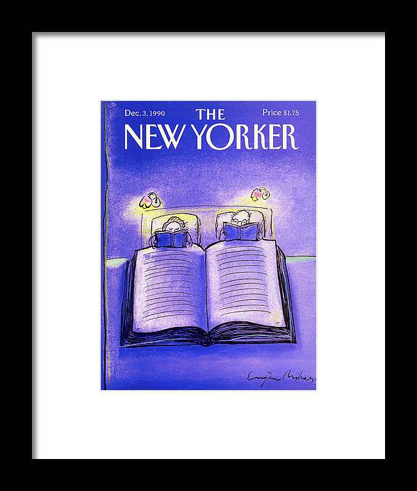 Married Couple Framed Print featuring the painting New Yorker December 3rd, 1990 by Eugene Mihaesco