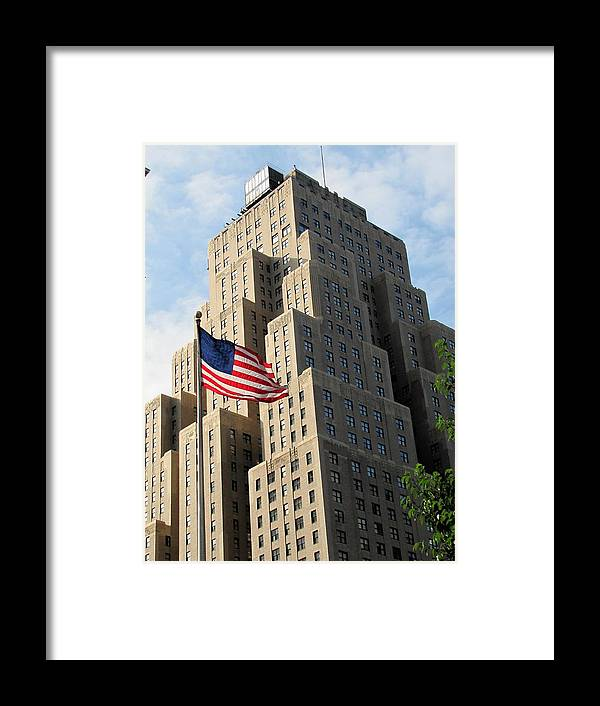 New Yorker Building Framed Print featuring the photograph New Yorker by Elizabeth Hardie