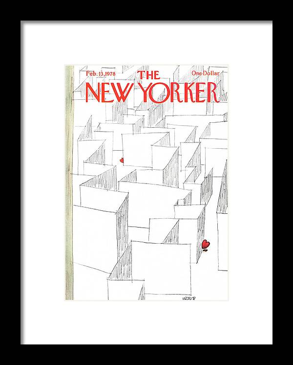 Holidays Framed Print featuring the painting New Yorker February 13th, 1978 by Robert Weber
