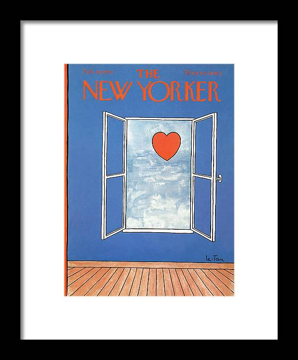 Pierre Letan Ple Framed Print featuring the painting New Yorker February 14th, 1970 by Pierre LeTan