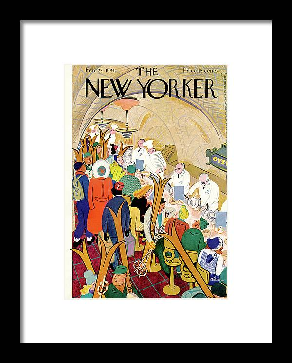 Alain Ala Framed Print featuring the painting New Yorker February 22nd, 1941 by Alain