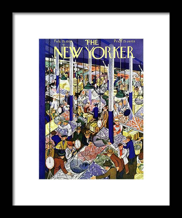 Food Framed Print featuring the painting New Yorker February 25 1939 by Ilonka Karasz