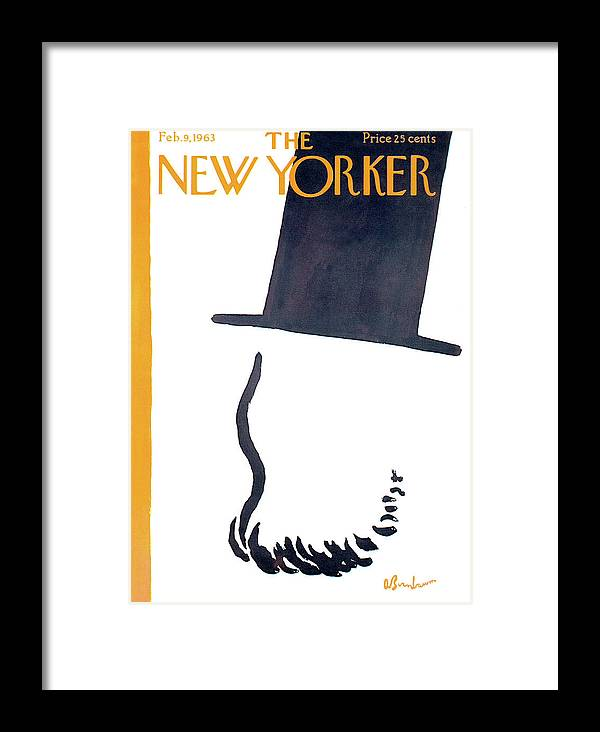 Government Framed Print featuring the painting New Yorker February 9th, 1963 by Abe Birnbaum