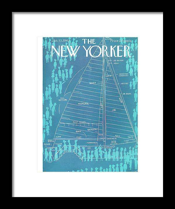 Captain Framed Print featuring the painting New Yorker January 13th, 1962 by Charles E Martin