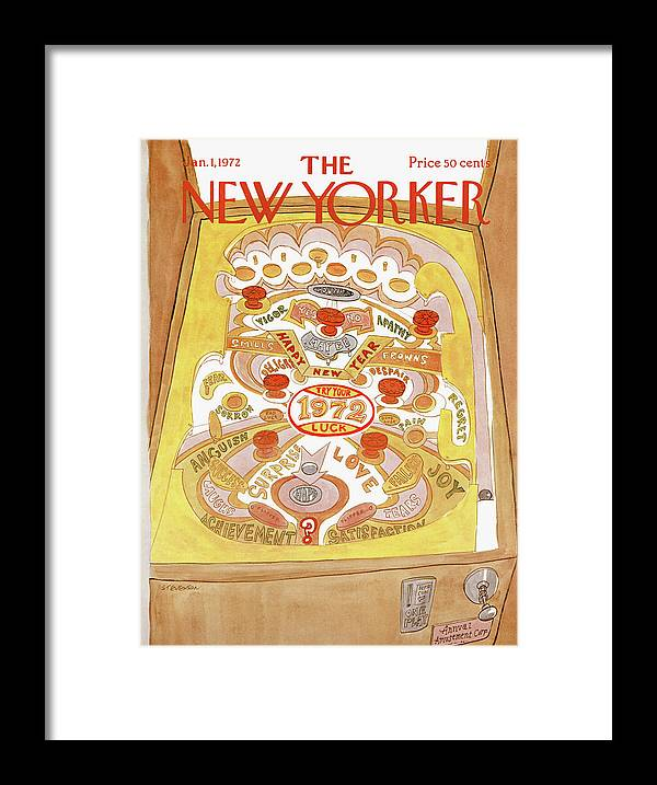 James Stevenson Jst Framed Print featuring the painting New Yorker January 1st, 1972 by James Stevenson