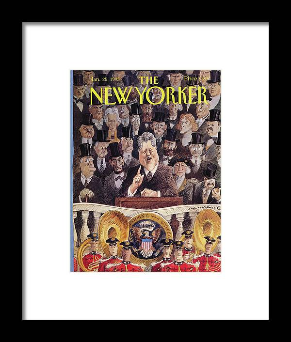 Artkey 50701 Eso Edward Sorel Framed Print featuring the painting New Yorker January 25th, 1993 by Edward Sorel