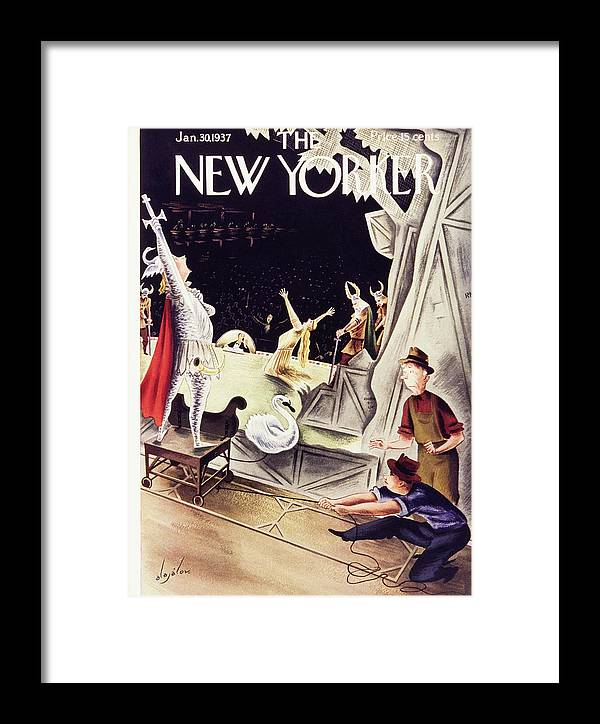 Illustration Framed Print featuring the painting New Yorker January 30 1937 by Constantin Alajalov