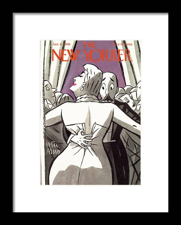 Entertainment Framed Print featuring the painting New Yorker January 6, 1940 by Peter Arno