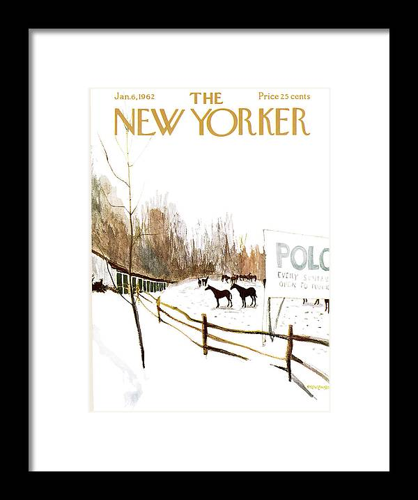 Suburb Framed Print featuring the painting New Yorker January 6th, 1962 by James Stevenson