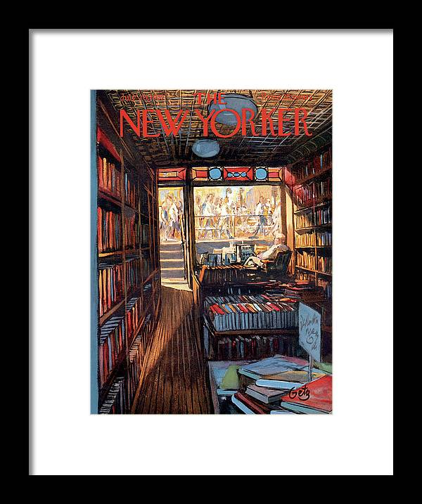 Arthur Getz Agt Framed Print featuring the painting New Yorker July 20th, 1957 by Arthur Getz