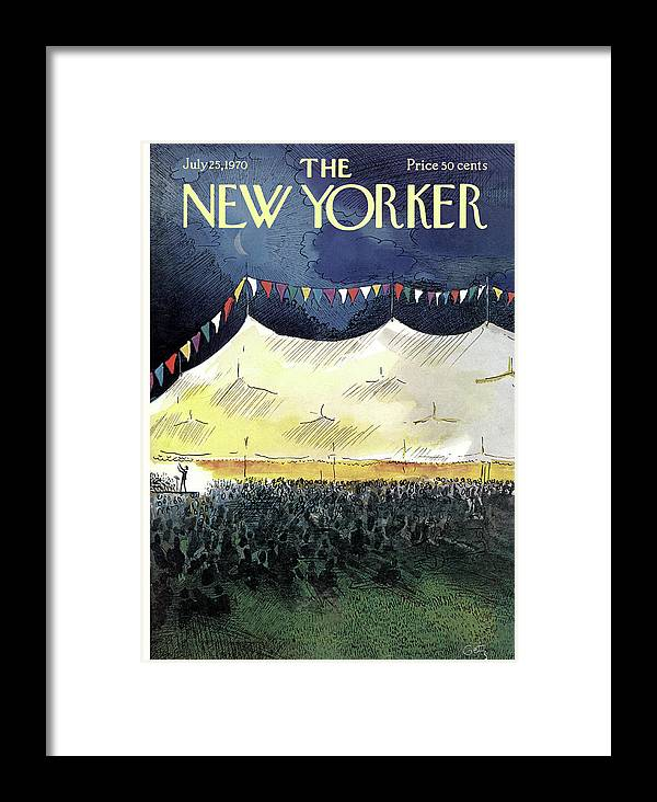 Arthur Getz Agt Framed Print featuring the painting New Yorker July 25th, 1970 by Arthur Getz