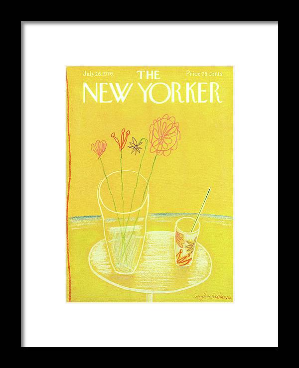 Drink Framed Print featuring the painting New Yorker July 26th, 1976 by Eugene Mihaesco