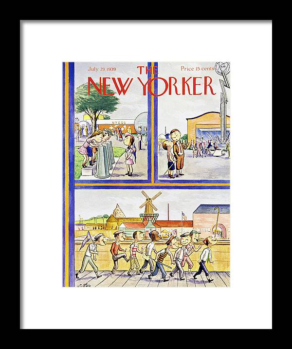 Children Framed Print featuring the painting New Yorker July 29 1939 by William Steig