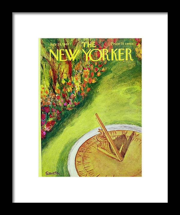 Illustration Framed Print featuring the painting New Yorker July 29th 1967 by Beatrice Szanton