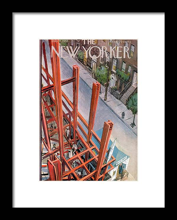 Urban Framed Print featuring the painting New Yorker July 9th, 1955 by Arthur Getz