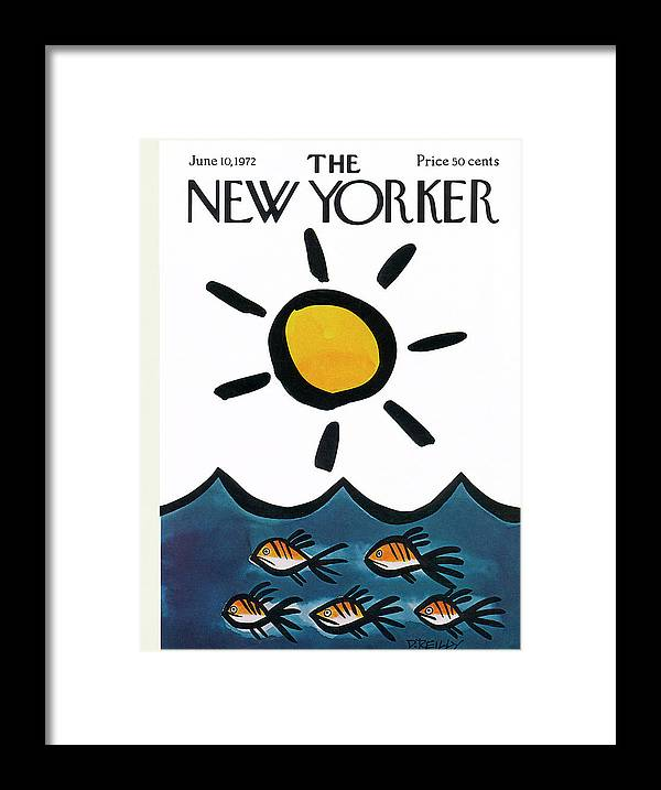 Donald Reilly Framed Print featuring the painting New Yorker June 10th, 1972 by Donald Reilly