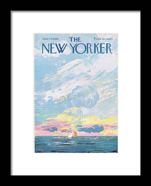 Charles E. Martin Cma Framed Print featuring the painting New Yorker June 14th, 1969 by Charles E Martin