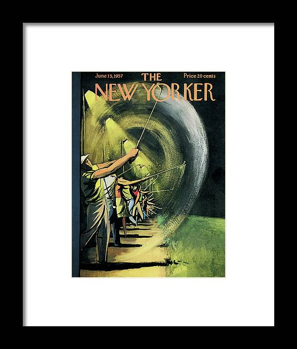 Golf Framed Print featuring the painting New Yorker June 15th, 1957 by Arthur Getz