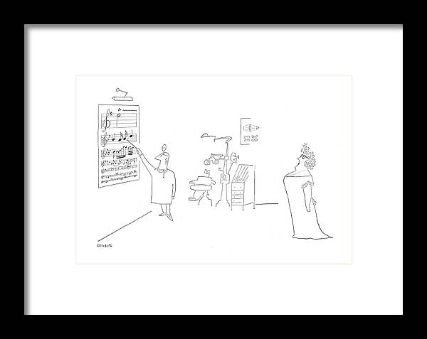 New Yorker June 17th, 1950 Framed Print by Saul Steinberg