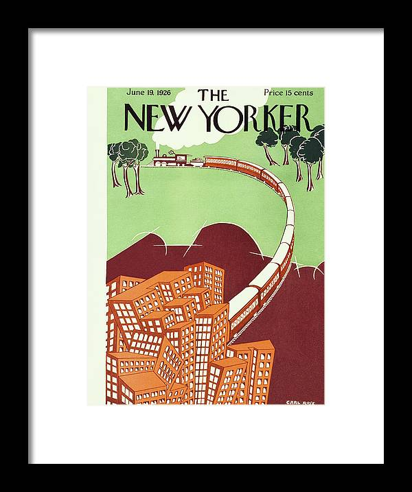 Illustration Framed Print featuring the painting New Yorker June 19 1926 by Carl Rose