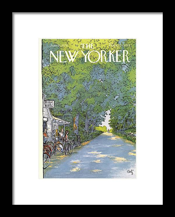 Summer Framed Print featuring the painting New Yorker June 21st, 1976 by Arthur Getz