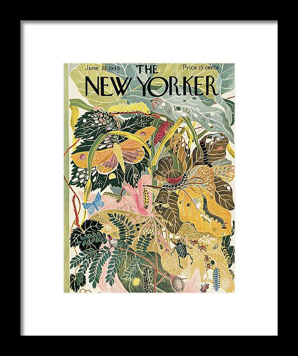 Bugs Framed Print featuring the painting New Yorker June 23, 1945 by Ilonka Karasz