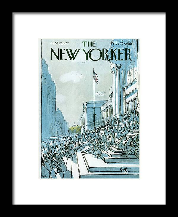 Summer Framed Print featuring the painting New Yorker June 27th, 1977 by Arthur Getz