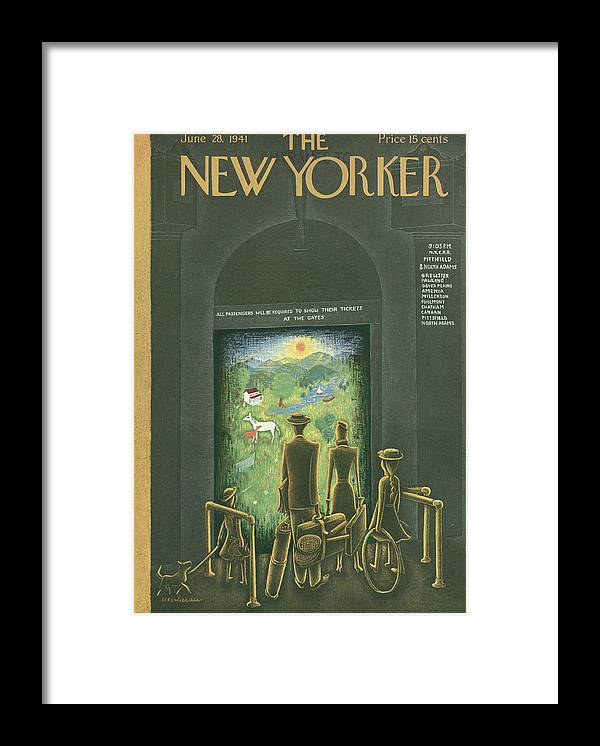 128420 Framed Print featuring the painting New Yorker June 28, 1941 by Christina Malman