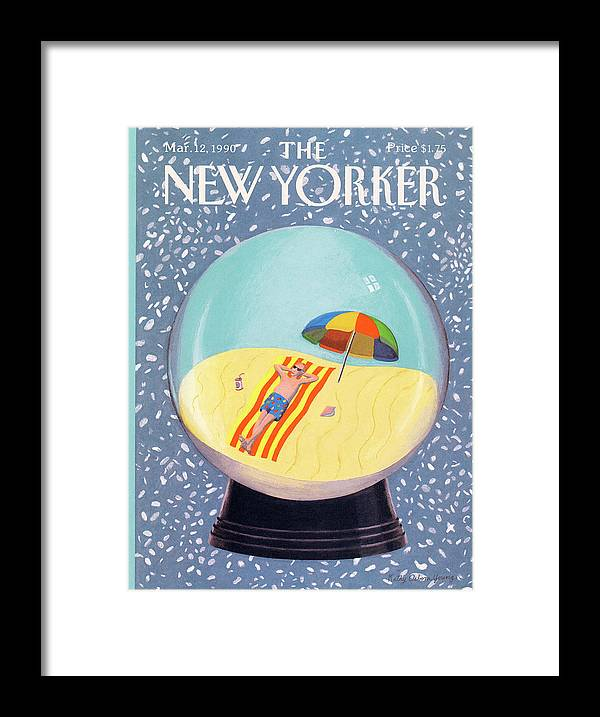 Leisure Framed Print featuring the painting New Yorker March 12th, 1990 by Kathy Osborn