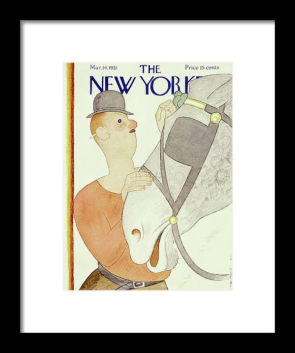 Illustration Framed Print featuring the painting New Yorker March 14 1931 by Rea Irvin