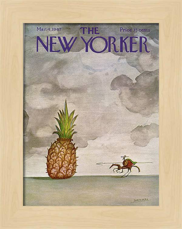New Yorker March 4th, 1967 by Saul Steinberg